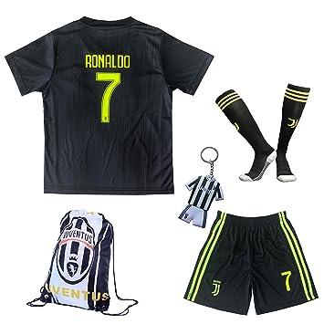 20182019 Juventus 7 Cristiano Ronaldo Third Kinder Fußball Trikot