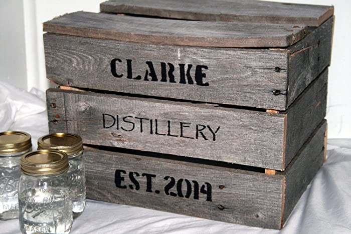 Amazon CUSTOM Rustic Reclaimed Wooden Whiskey Crate Rustic – Wedding Photo Card Box