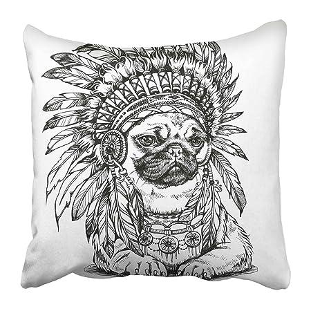 Emvency - Fundas de almohada decorativas para tatuaje, diseño de ...