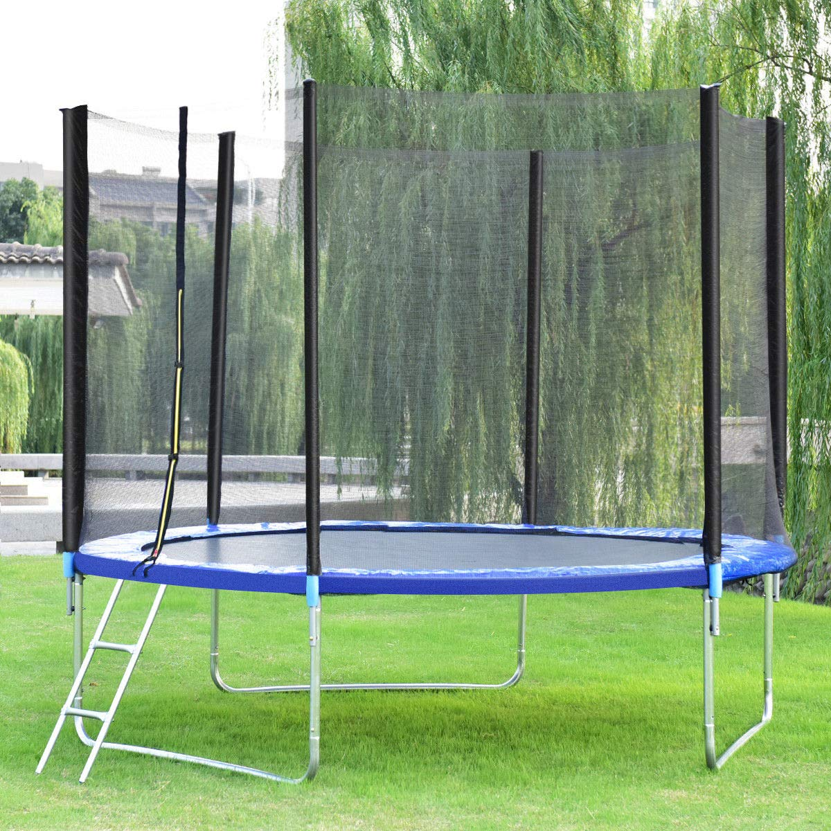 Giantex Trampoline Combo Bounce Jump Safety Enclosure Net W/Spring Pad Ladder (10 FT) by Giantex (Image #3)
