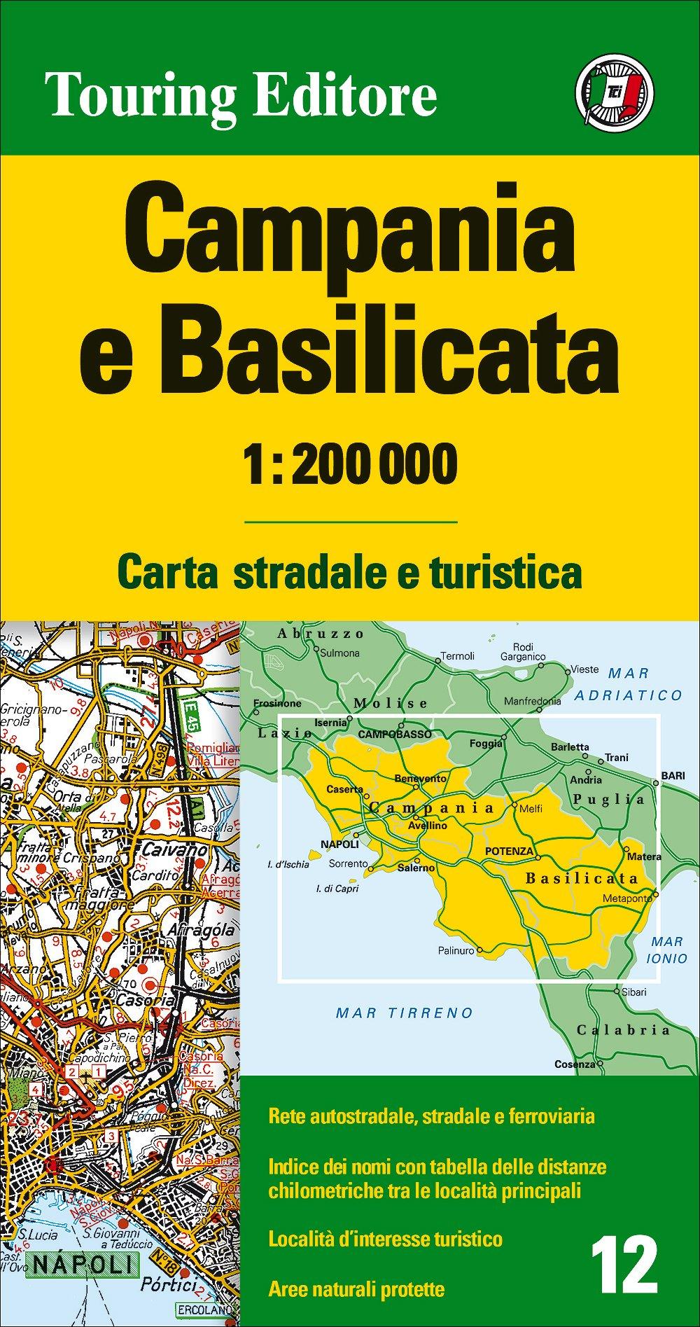Cartina Stradale Puglia Michelin.Amazon It Campania E Basilicata 1 200 000 Carta Stradale E Turistica Aa Vv Libri In Altre Lingue