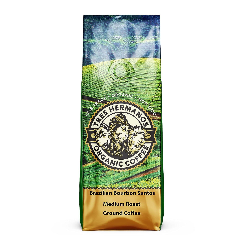 b12df72cf Amazon.com : Tres Hermanos Fairtrade Low-Acid Organic Coffee (Colombian  Supremo Medium Whole Bean Coffee, 2 lb) : Grocery & Gourmet Food