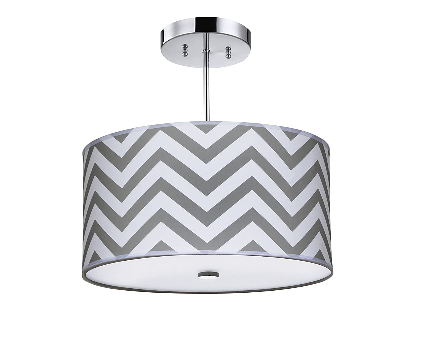 nursery ceiling lighting. Firefly Kids Lighting - Grey Chevron Light Fixture, 16-Inches, 3-Light E26, Polished Chrome With Fabric Shade And Glass Diffuser Amazon.com Nursery Ceiling S