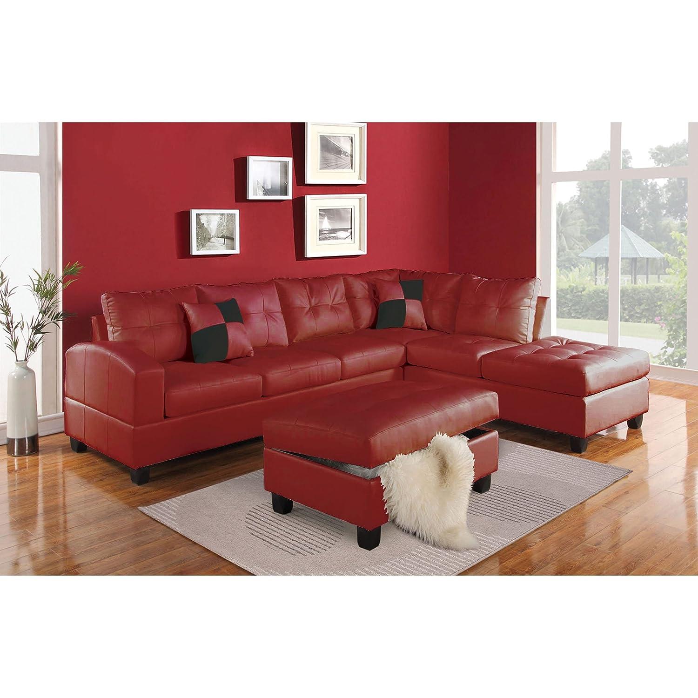 Amazon ACME Furniture Kiva Sectional Sofa with 2