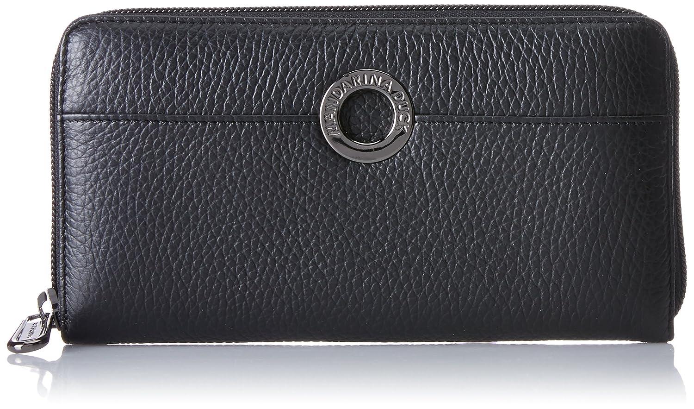 Mandarina Duck - Mellow Leather Portafoglio, Carteras Mujer, Schwarz (Nero), 2x10x19 cm (B x H T)
