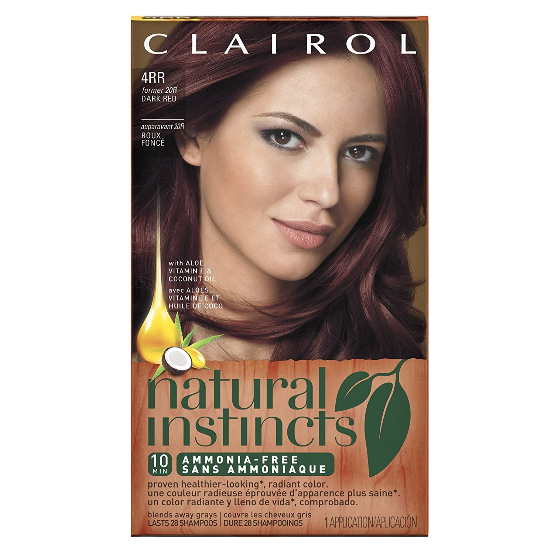 Amazon.com: Clairol Natural Instincts, 4RR / 20R Malaysian Cherry ...