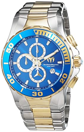 Technomarine Mens Manta Quartz Stainless Steel Casual Watch, Color:Silver-Toned