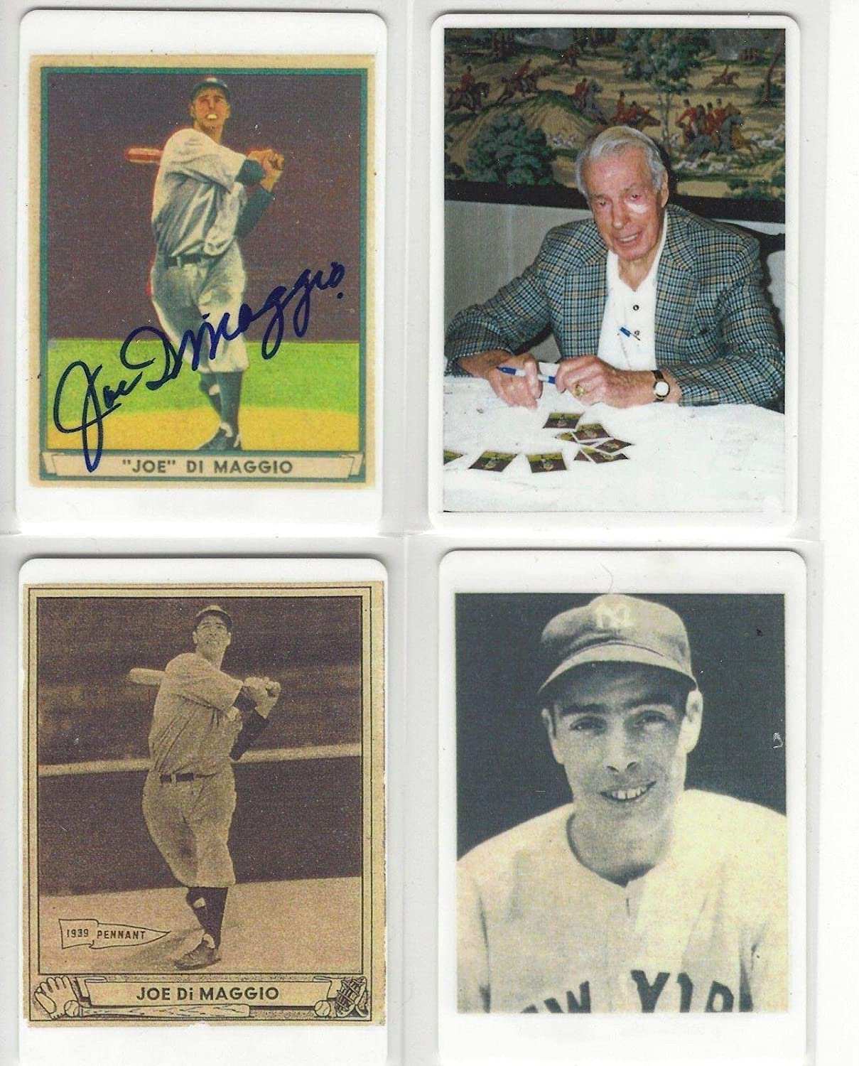 6b70333c0fdbf Joe Dimaggio Autographed 1941 Play Ball Porcelain Card Of A 4-card Set Cert  - JSA Certified - MLB Autographed Baseball Cards at Amazon s Sports  Collectibles ...