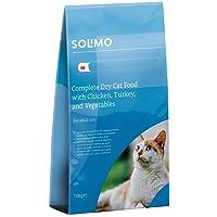Marque Amazon - Solimo - Croquettes complètes pour chats adultes, au poulet, dinde et légumess, 1 Pack de 10kg