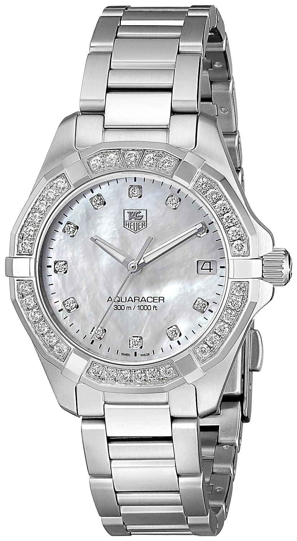 Amazoncom TAG Heuer Womens WAY1314BA0915 300 Aquaracer Diamond
