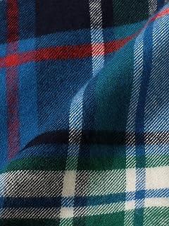 Flannel Buttondown Shirt 121-13-0082: Blue