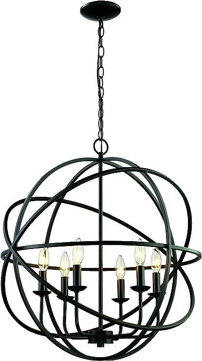 Trans Globe Lighting Trans Glob Lighting 9016 Rob 6-Light Chandelier Rubbed Oil Bronze