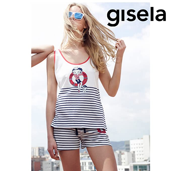 GISELA - Pijama Betty Booo Mujer Color: Rayas Talla: x-Large