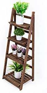 Kodycity Plant Stand Stands for Indoor Plants Shelf Holder Outdoor Tall Planter Shelves Multiple Corner Flower Pot Pots Holders Wood Tiered Rack in Patio Garden House Living Room Decor