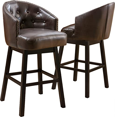 Christopher Knight Home Ogden KD Swivel Barstool 2 piece set