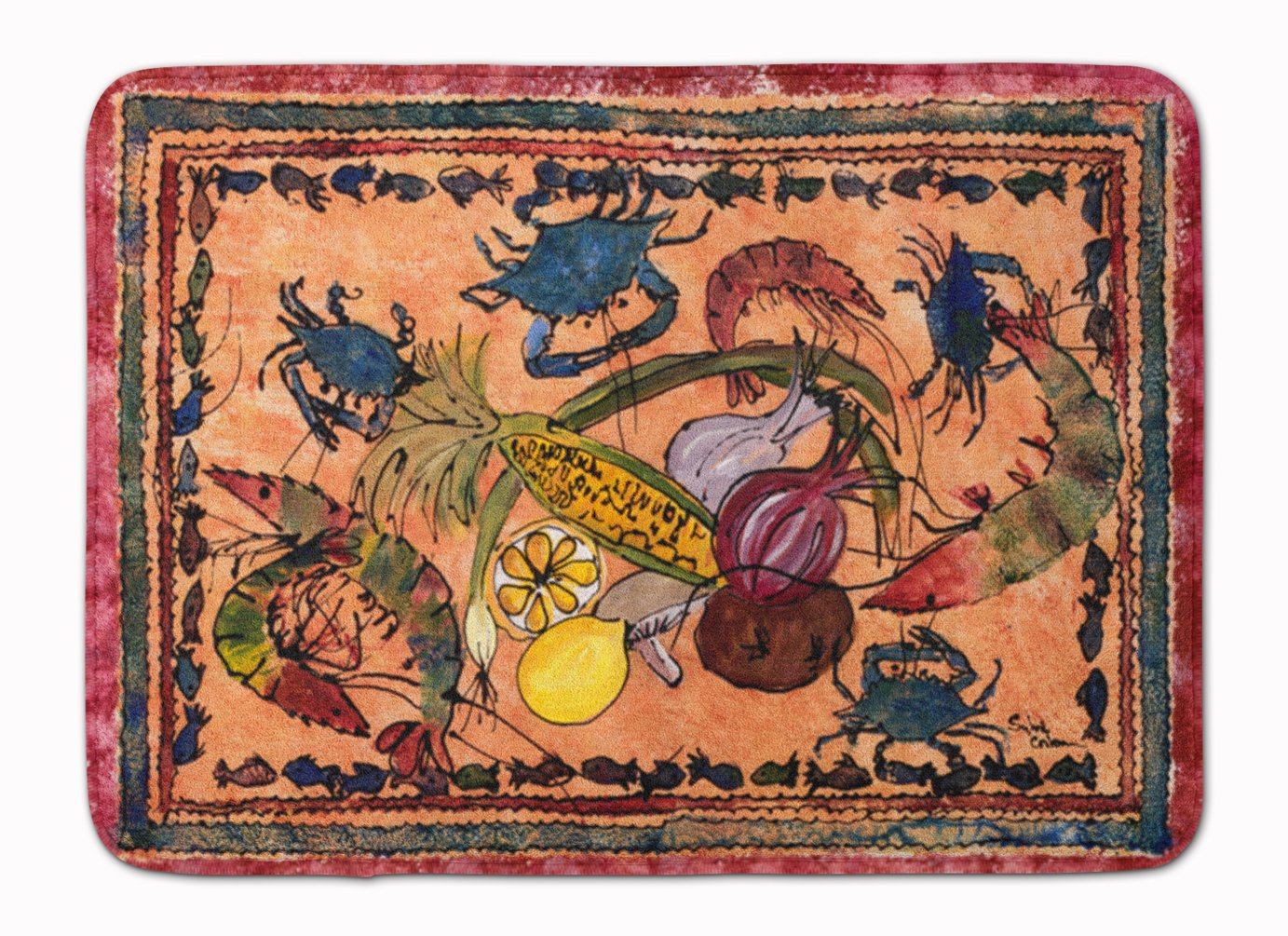 Carolines Treasures Crab Floor Mat 19 x 27 Multicolor