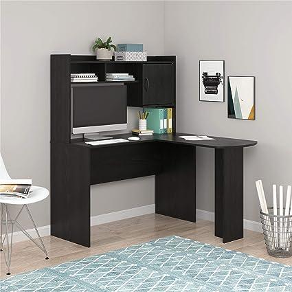. Mainstays Student Desk   Home Office Bedroom Furniture Indoor Desk   Easy  Glide Accessory Drawer  Desk Only  Rodeo Oak   L Shaped Desk  Black Oak