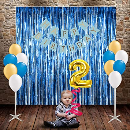 Party Propz Boys Birthday 29 Pcs Combo For 2Nd Year Decoration