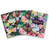 Studio Oh! 3-Pack Notebooks in Coordinating Designs Available in 12 Different Bundles, Succulent Paradise