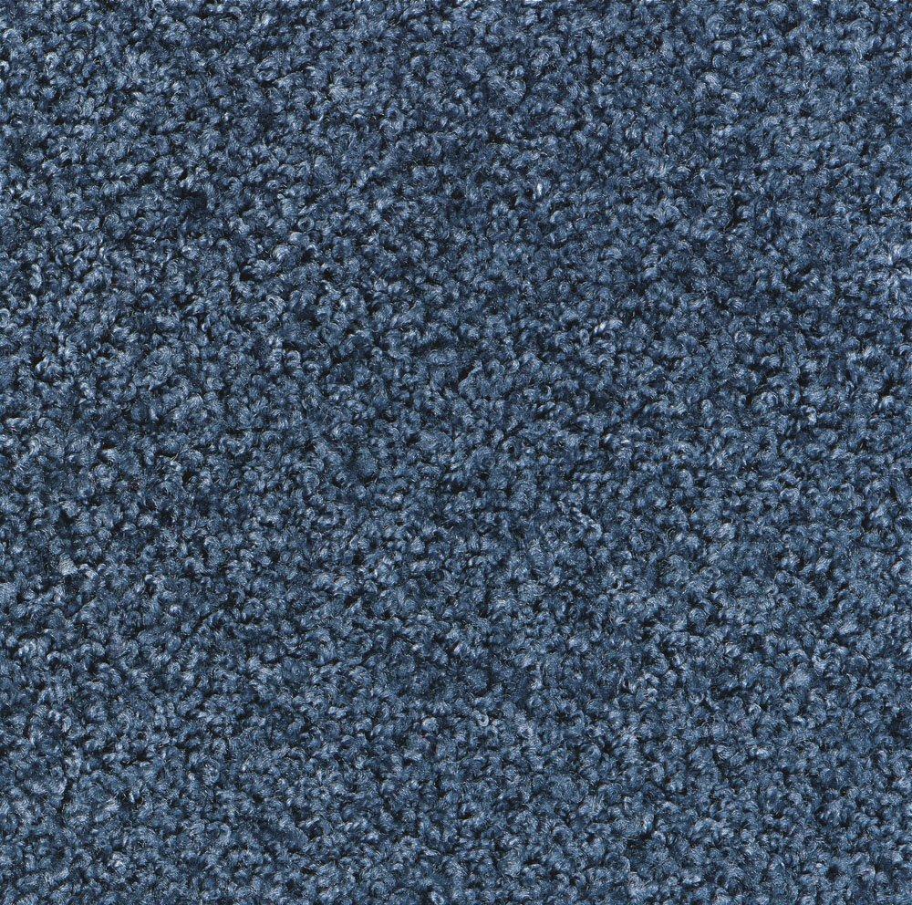 M+A Matting 100 TriGrip Nylon Fiber Interior Floor Mat, Non-Woven Polyester and SBR Rubber Backing, 6' Length x 3' Width, Steel Blue