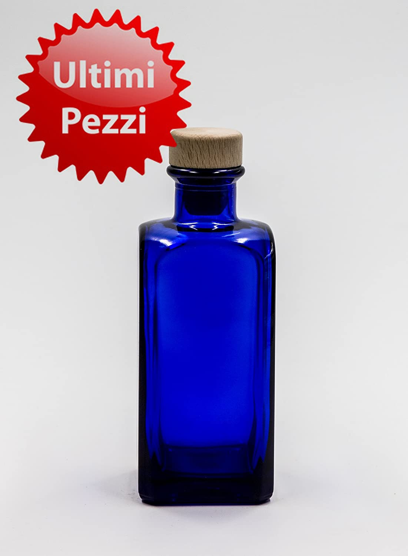 nr 1 botella Antigua Quadra 200 ml de vidrio azul tapón n°59: Amazon.es: Hogar