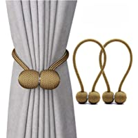 Jacalee Magnetic Curtain Tiebacks Decorative Rope Hold-backs Holder 1 Pair 16 Inches …