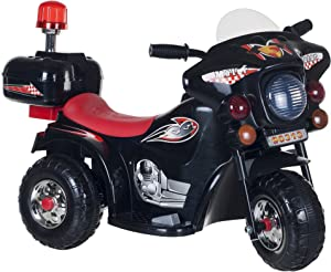 Ride on Toy, 3 Wheel Motorcycle for Kids, Battery Powered Ride On Toy by Lil' Rider – Ride on Toys for Boys and Girls, Toddler - 4 Year Old, Black
