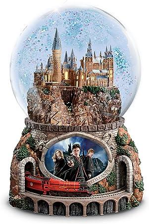 Harry Potter Musical bola de nieve con tren giratorio y película imagen se ilumina por el intercambio de Bradford: Amazon.es: Hogar