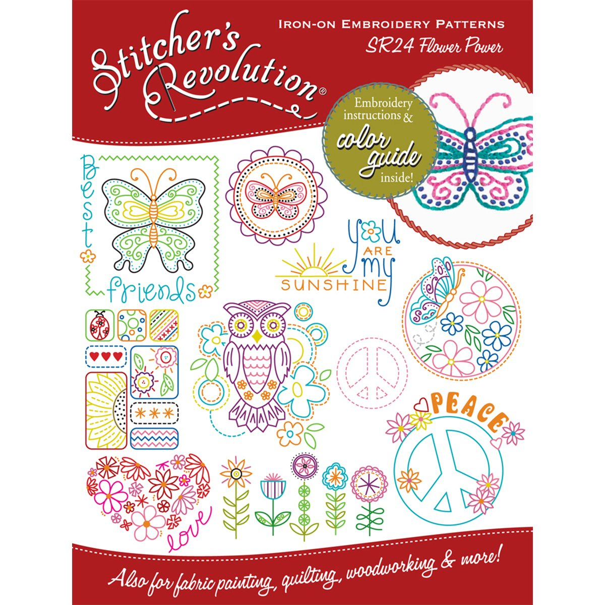 Stitchers Revolution Flower Power Iron-On Transfer Pattern for Embroidery product image