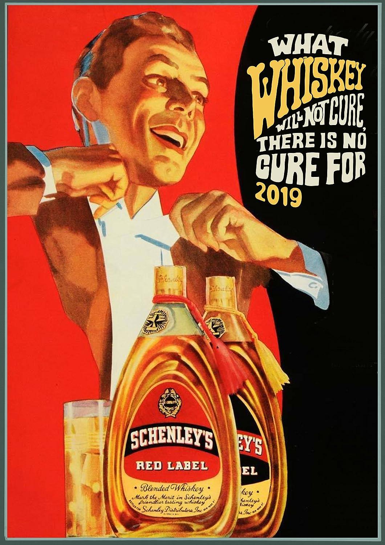 Pixiluv 2019Calendrier Mural [12Pages 20,3x 27,9cm] Scotch Whisky ADS Vintage publicité Poster