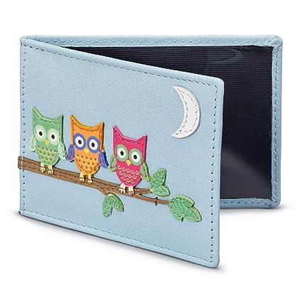 Diseño con búhos para tarjeta Oyster/Billetera para tarjeta de transporte por 1642 – más colores disponibles. azul azul talla única