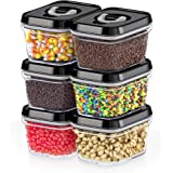 DWËLLZA KITCHEN Airtight Food Storage Containers with Lids – 6 Pieces All Same Size - Pantry Container for Spices, Candy…