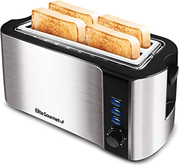 Elite Gourmet Maxi-Matic 4 Slice Long Slot Toaster