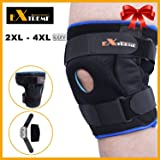 Knee Brace for Plus Size - Wrap around to Fit Large Legs, Extra Supportive to Your Knee, Relieve Knee Pain from after Surgery, Bone to Bone, Arthritis, Meniscus Tear, by Motion Infiniti