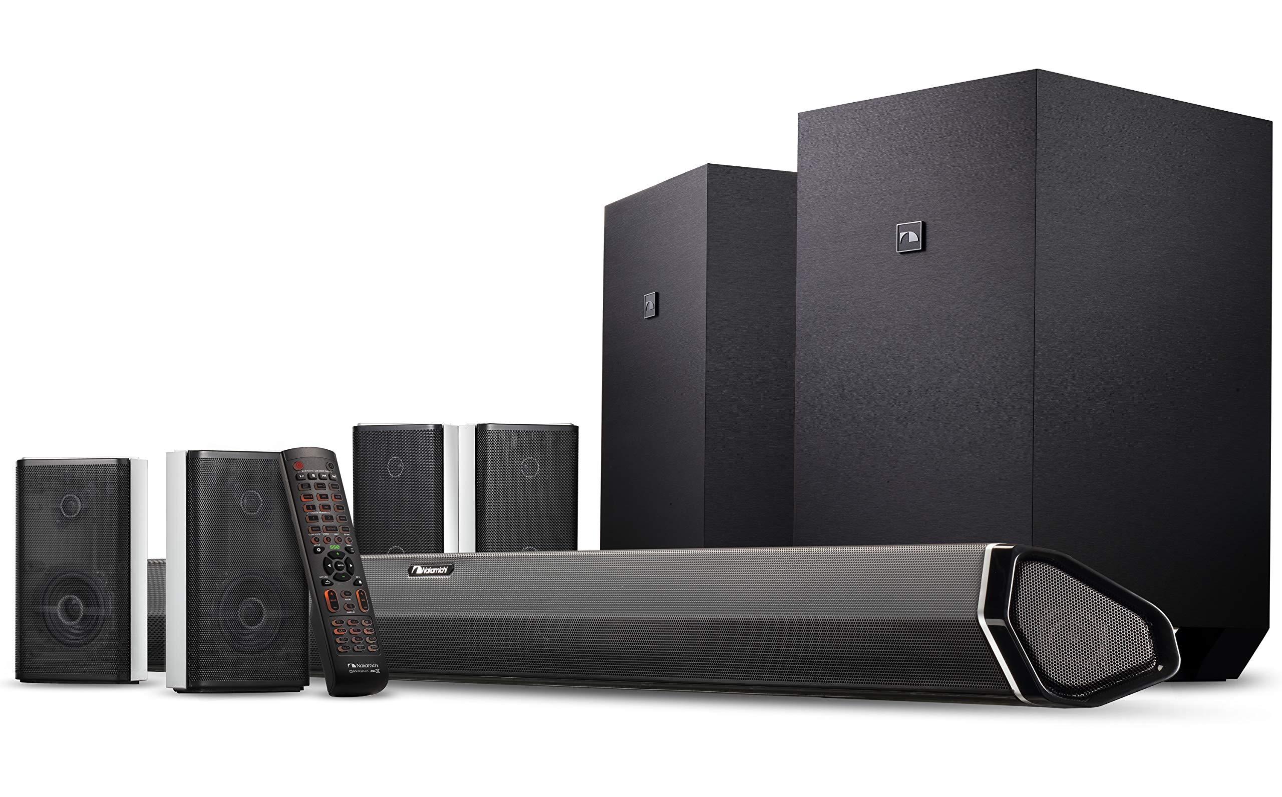 Nakamichi Shockwafe Ultra 9.2.4Ch 1000W Soundbar System with Dolby Atmos, Dolby Vision, Dual 10'' Subs (Wireless) & Four 2-Way Rear Speakers