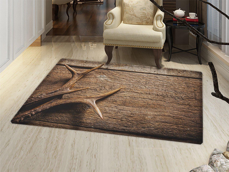 Amazon.com: Antler Felpudo alfombra pequeña reno siluetas ...