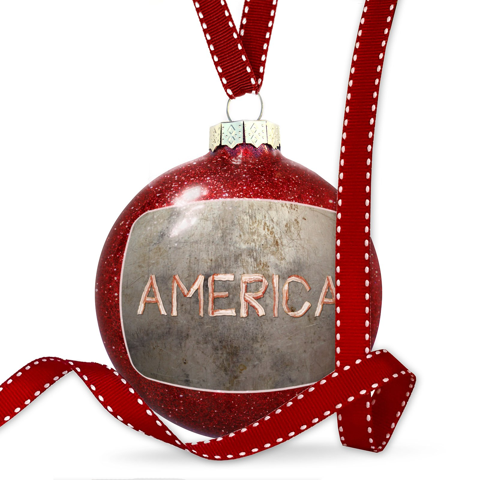 Christmas Decoration America Bacon Ornament
