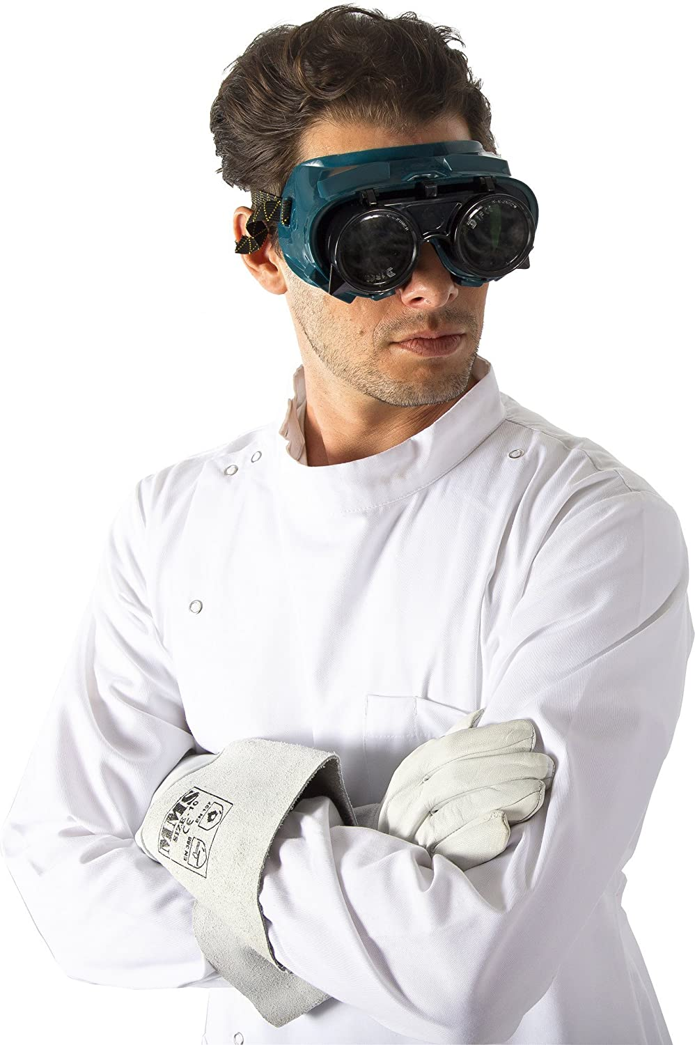 amazoncom dr howie mad scientist complete costume clothing - Dr Horrible Halloween Costume
