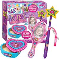 JOYIN Klever Kits Kids Craft Kit Decorate & Paint Your Own Wooden Princess Accessories Art & Craft Kit DIY Toy Paint and Decorate Your Own Wooden Princess Wand, Mirror and Jewelry Box