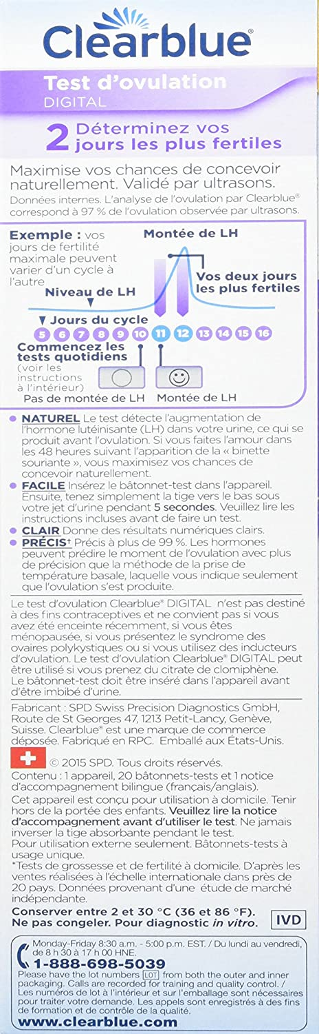 Amazon Clearblue Digital Ovulation Predictor Kit Featuring