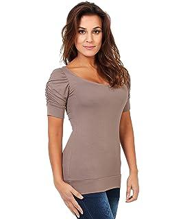 KRISP - Camiseta - cuello barco - Manga corta - para mujer