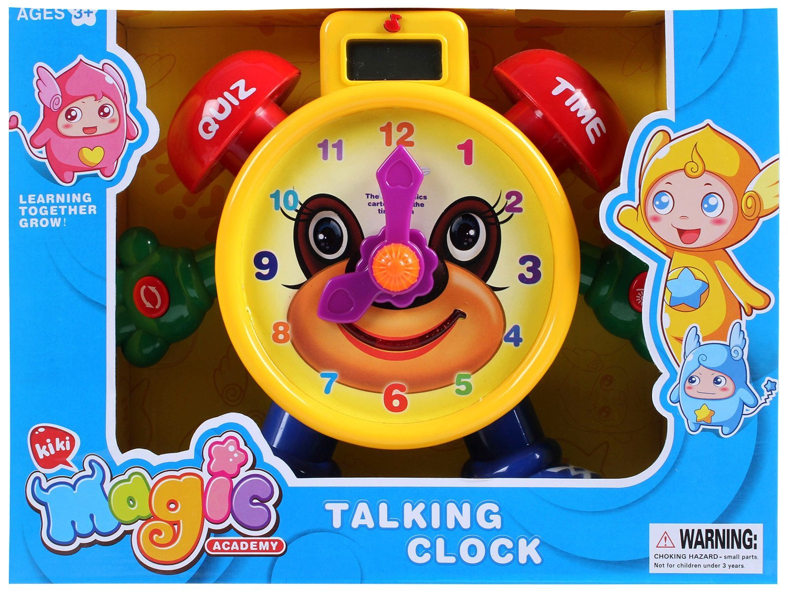 AMPERSAND SHOPS ''Tell the Time'' Teaching Talking Clock Electronic Educational Toy for Kids