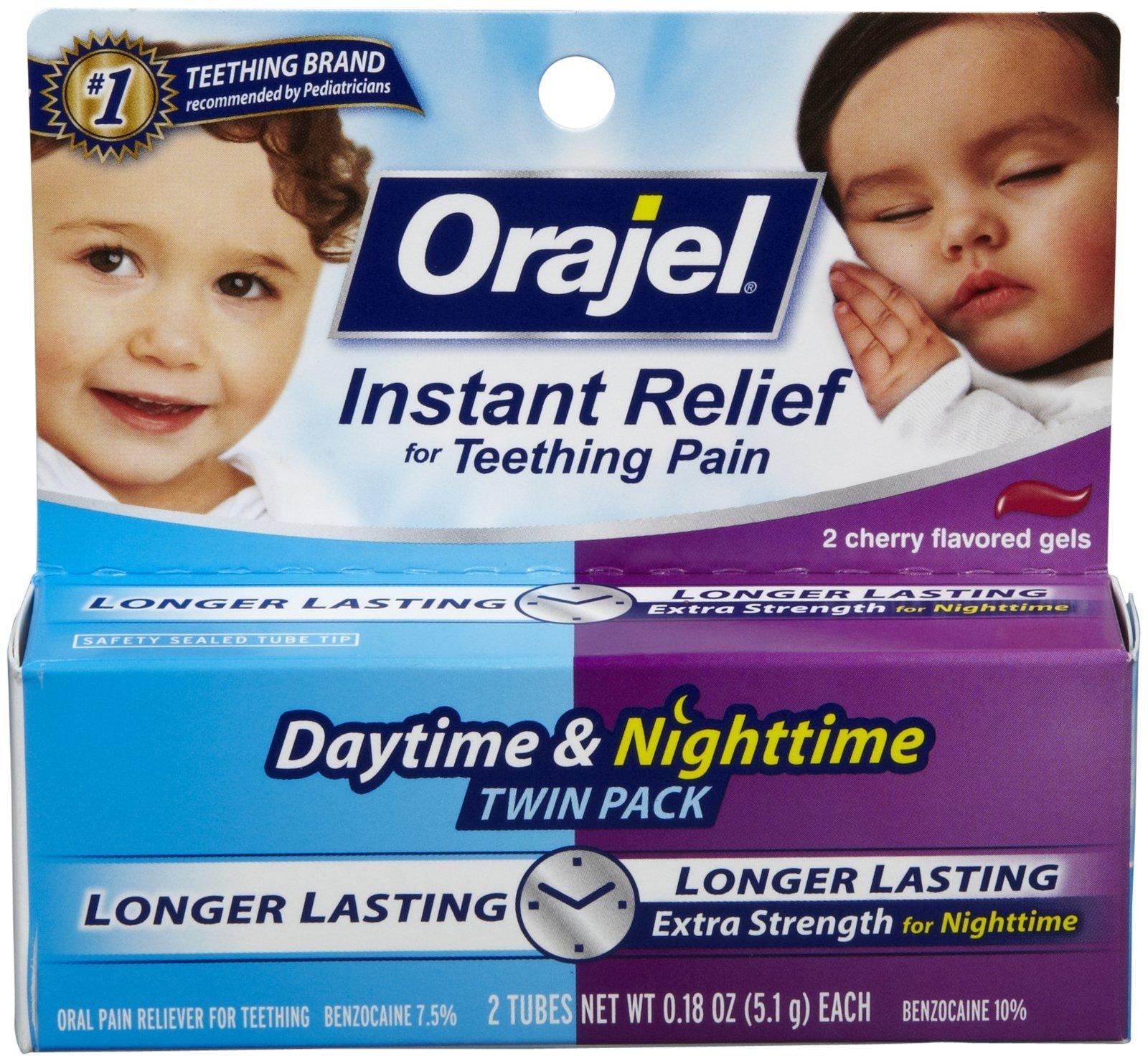Orajel Oral Pain Reliever - Day/Night 2 Pk