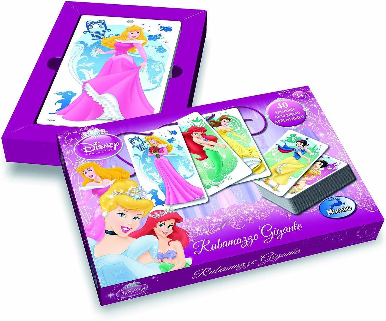 Modiano Disney Rubamazzo - Juego de Cartas Gigantes, diseño de Princesas Disney (en Italiano) [Importado de Italia]: Amazon.es: Juguetes y juegos