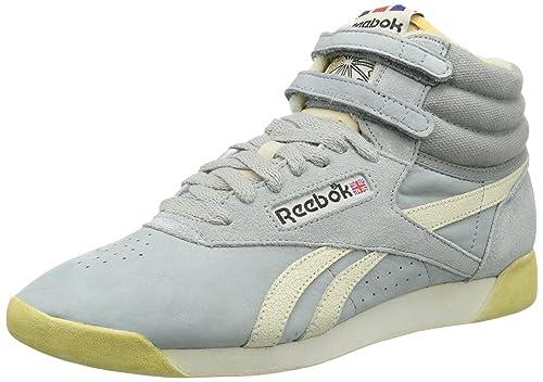 Reebok Freestyle Hi - Zapatillas para mujer, color Silber (SEAGULL/PAPERWHITE/B), talla 38.5