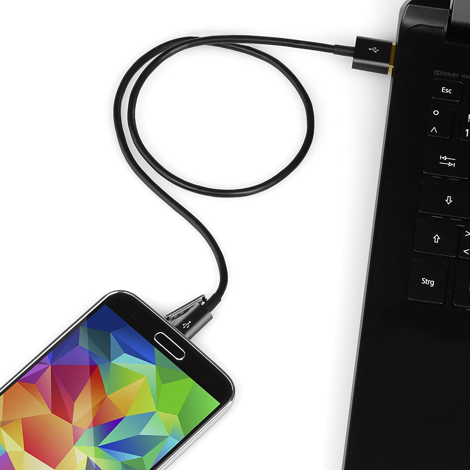 Csl 3m Premium Micro Usb To Cable Datasync Charging Carger Samsung Galaxy Charger Android I9000 I 9000 Smartphone Smart Phone Young V J1 J2 J3 J5 For Htc Motorola Nokia Lg Hp Sony Blackberry