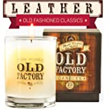 Old Factory Scented Candles - Leather - Decorative Aromatherapy - 11-Ounce Soy Candle - from Candles