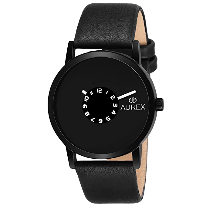 Aurex Analouge Blue Dial Watch Water Resistant Black Color Strap Watches for Mens/Boys (AX-GR152-BLB)
