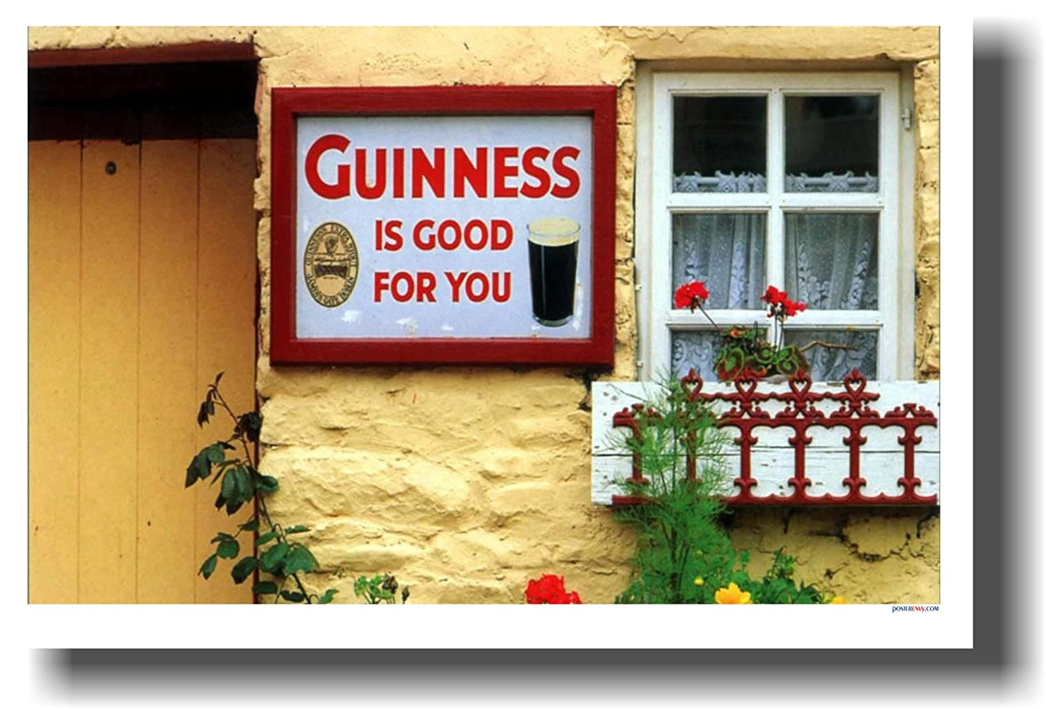 Amazon.com: Guinness Is Good For You - Funny Humor Joke Poster ...