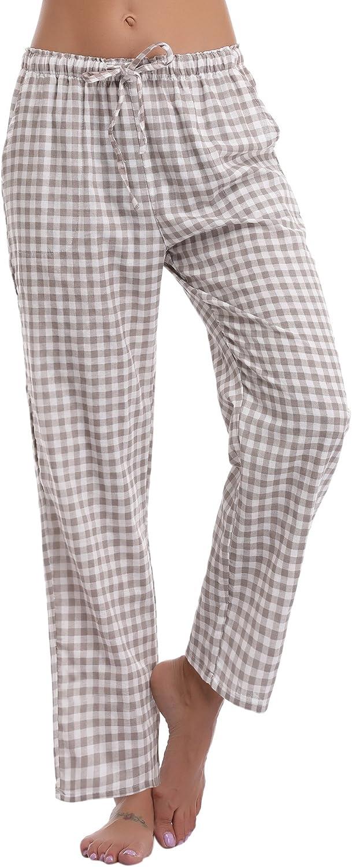 Aibrou Donna Pigiama Pantaloni Lunghi in Cotone Corsa Donna Pantaloni Sportivi Casual per Casa Donna Pigiama Pantaloni da Notte